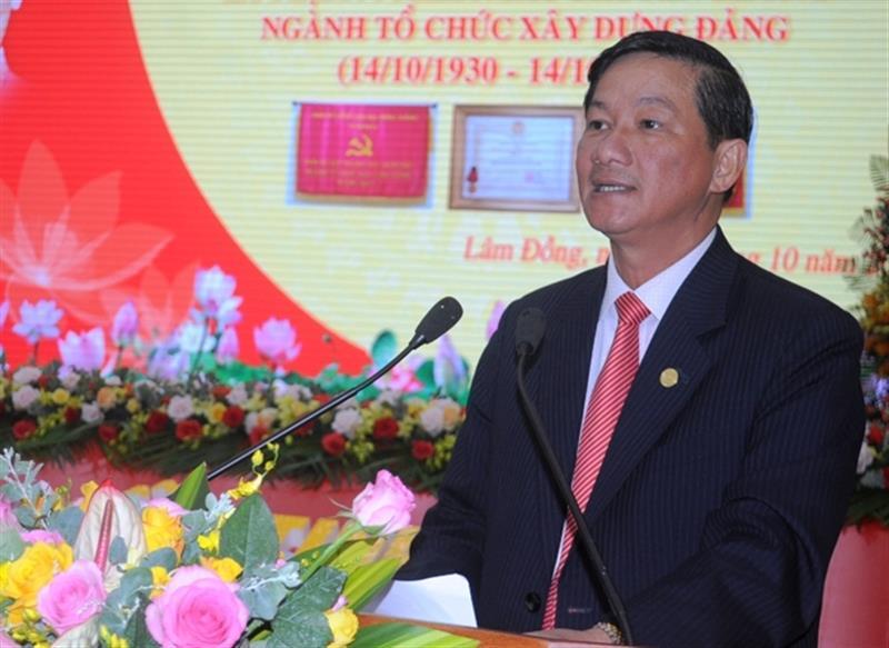 Đồng chí Trần Đức Quận phát biểu tại Tọa đàm