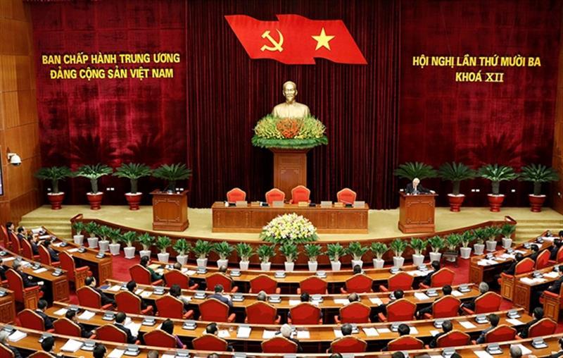Ban Chấp hành Trung ương đã nhất trí cao thông qua Nghị quyết của Hội nghị lần thứ 13, khóa XII