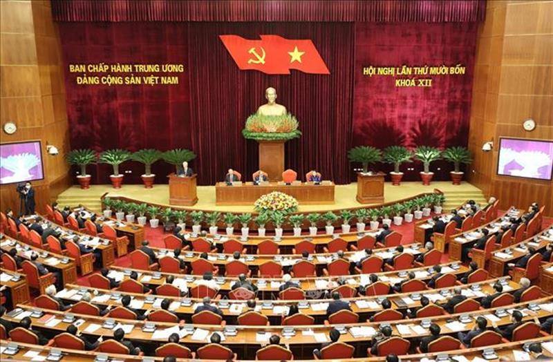 Quang cảnh Hội nghị lần thứ 14 Ban Chấp hành Trung ương Đảng Cộng sản Việt Nam khóa XII, sáng 14/12/2020. Ảnh: Trí Dũng/TTXVN