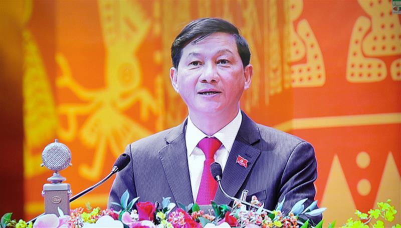 Bí thư Tỉnh ủy Lâm Đồng Trần Đức Quận tham luận tại Đại hội