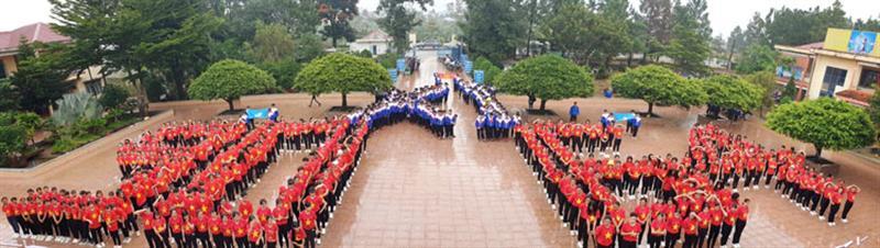 Màn trình diễn đẹp mắt tại Ngày hội đồng diễn, dân vũ năm 2020 của đoàn viên, thanh niên huyện Bảo Lâm