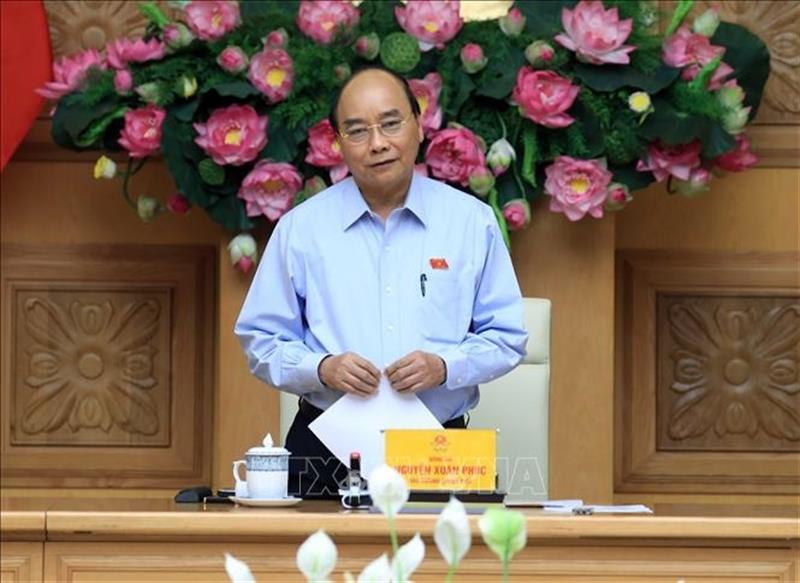 Thủ tướng Chính phủ Nguyễn Xuân Phúc phát biểu tại cuộc họp . Ảnh: Thống Nhất/TTXVN.