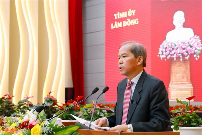 Bí thư Tỉnh uỷ Lâm Đồng Nguyễn Xuân Tiến kết luận hội nghị