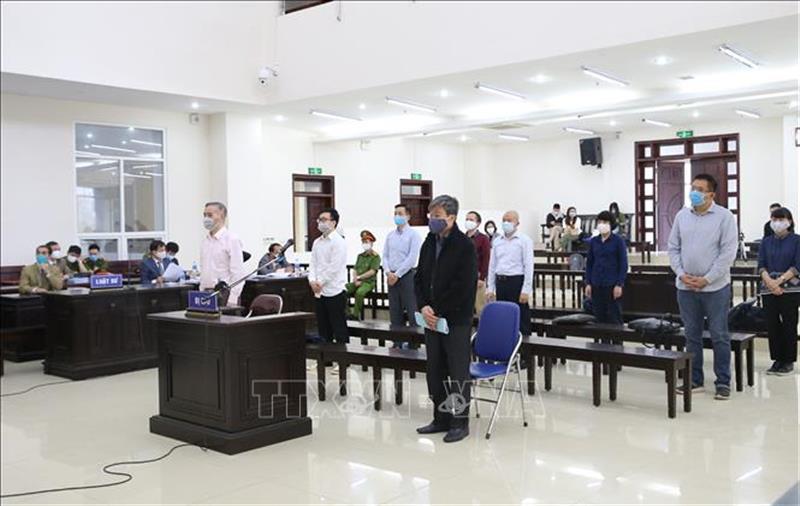Sáng 23/4/2020, Tòa án nhân dân Cấp cao tại Hà Nội xét xử phúc thẩm vụ án Tổng công ty Viễn thông MobiFone (viết tắt là MobiFone) mua 95% cổ phần của Công ty Cổ phần nghe nhìn Toàn Cầu (AVG). Ảnh: Doãn Tấn/TTXVN