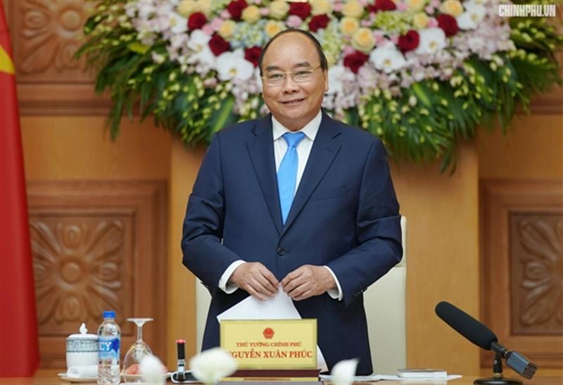 Thủ tướng Nguyễn Xuân Phúc phát biểu tại buổi gặp mặt. Ảnh: VGP/Quang Hiếu